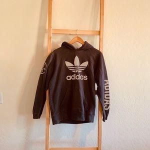 Adidas Grey and Silver Sweatshirt SIZE M